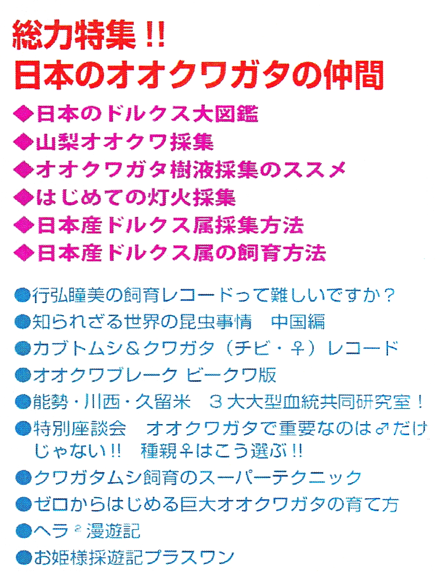 BE・KUWA(ビー・クワ)71号★総力特集!日本のオオクワガタの仲間