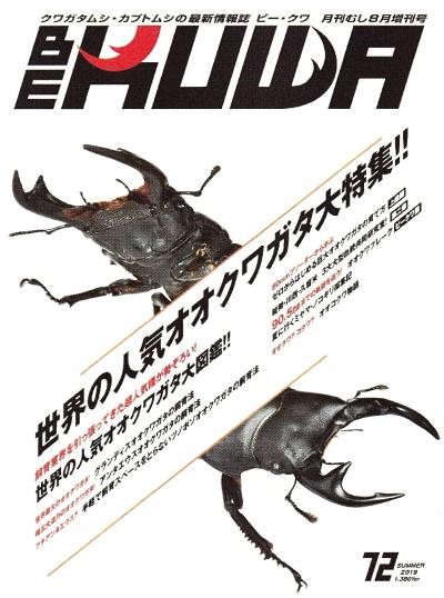 BE・KUWA(ビー・クワ)72号★世界の人気オオクワガタ大特集!!